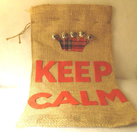 Keep Calm Christmas Burlap Bag Gift Bag Party Favor bag with drawstring   Christmas Ideas and Gifts   Scoop.it