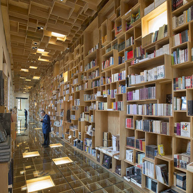 Mexican library renovation by Taller 6A with bookshop covered in boxes | ABCDaire : architecture, bibliothèque, culture, design | Scoop.it