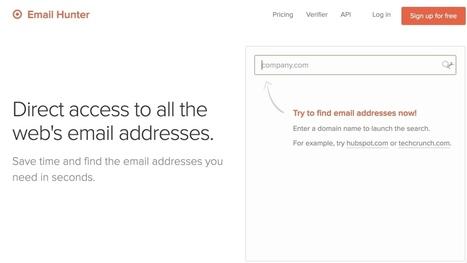 Email Hunter. Chasseur d'adresses mail – Les outils de la veille | Les outils du Web 2.0 | Scoop.it