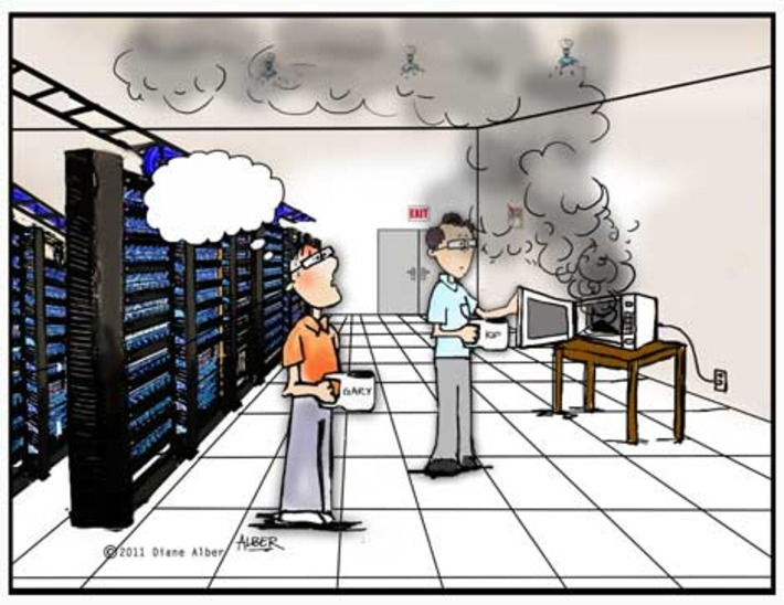 Friday Funny: Data Center Cartoon Caption Contest | Machinimania | Scoop.it