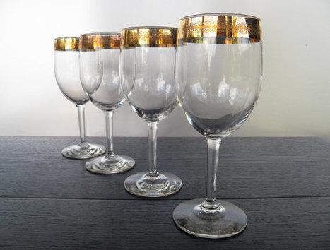 Gold Rim Wine Glasses | Creating A Home Wine Bar | Scoop.it