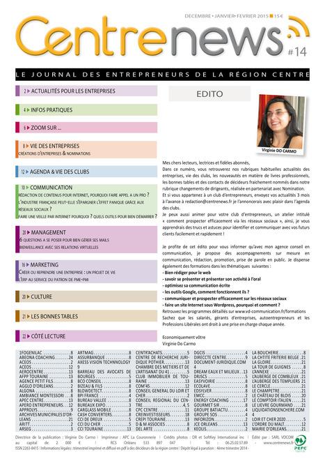 Centre-News   Le journal des Entrepreneurs de la Région Centre   Vacations de cours   Scoop.it