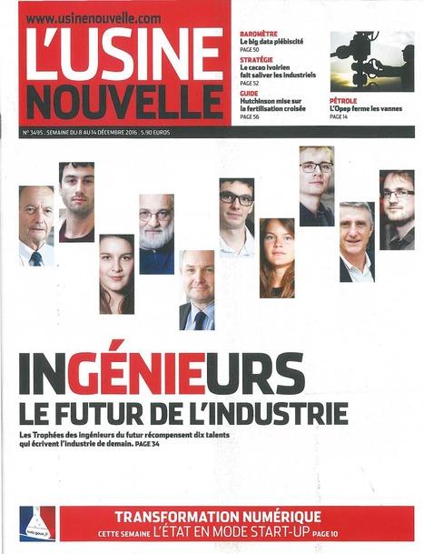 L'Usine Nouvelle n°3495 - 08/12/2016   Infothèque BBS Brest - L'actualité des revues   Scoop.it