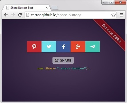 10 Free jQuery Social Sharing Plugins | jQuery By Example | jQuery By Example | Scoop.it