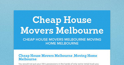 Cheap House Movers Melbourne | Mandy Moving and Packing | Scoop.it