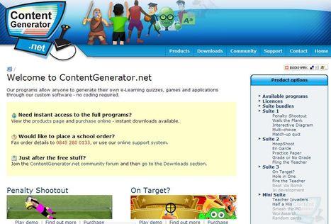 ContentGenerator.net - create your own Educational Flash games | Edu-Curator | Scoop.it