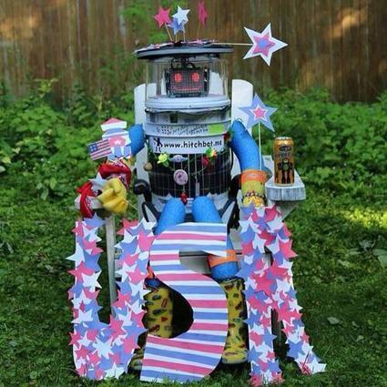 Trampender Roboter HitchBOT zerstört: Wunderliches Überwachungsvideo | Weblese | Scoop.it