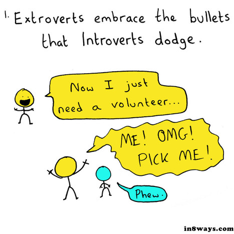 8 Reasons Why Introverts and Extroverts Need Each Other | In 8 Ways | Ondernemende introverten | Scoop.it