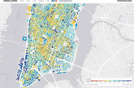 Urban Layers mapea la antigüedad de los edificios de una ciudad - ESMARTCITY   InternetofThings   Scoop.it