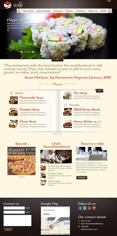 Best WordPress Restaurant Themes 2013 - WpSister | Best WordPress Themes | Scoop.it