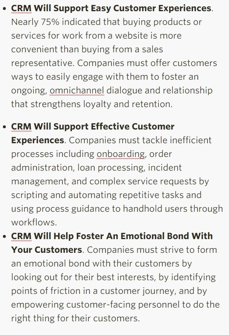 Forrester's Top CRM Trends For 2016 And Beyond - Forrester   Digital Brand Marketing   Scoop.it