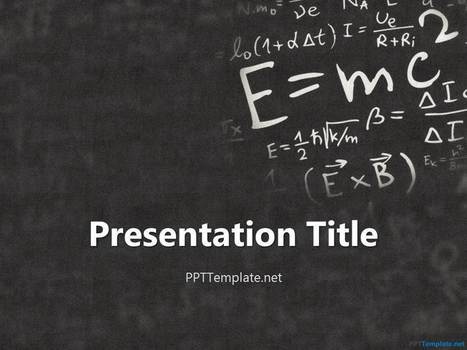 Einstein Physics PPT Template - PPT Presentation Backgrounds for Power Point - PPT Template | wutsoever | Scoop.it