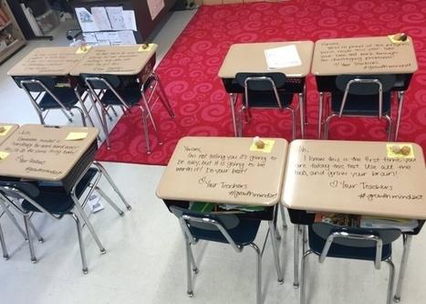 """""""Nunca dejes de intentarlo"""": Una profesora motiva a sus alumnos con notas en los pupitres   Teachelearner   Scoop.it"""