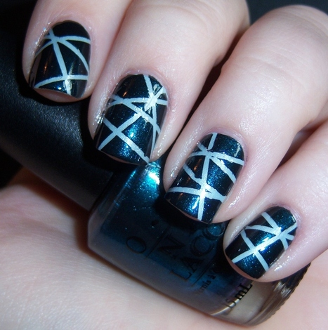 7 Striping Tape Nail Art | Fashion and Beauty | Scoop.it