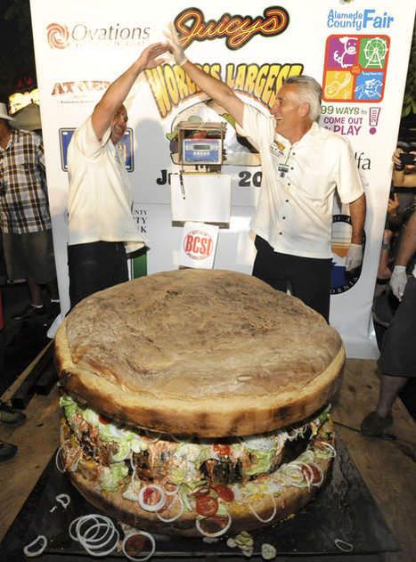 Le plus gros burger du monde pèse 352 kilos | Mais n'importe quoi ! | Scoop.it
