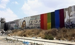 Palestinian protesters whitewash rainbow flag from West Bank barrier | Saif al Islam | Scoop.it