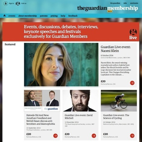 Guardian Space & Guardian Membership, playing the physical/digital continuum | Ideas to rethink Media | Scoop.it
