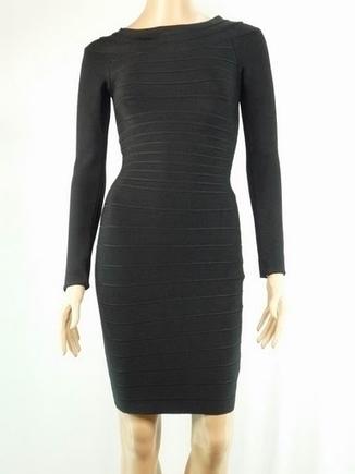Herve Leger Long Sleeved Bandage Dress In Black Sale Online | hervelegerinhot | Scoop.it
