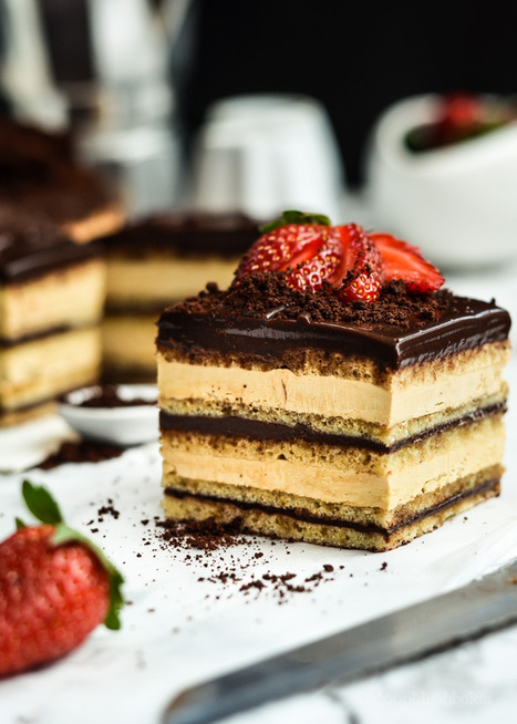 Opera Cake | The moonblush Baker | The Man With The Golden Tongs Hands Are In The Oven | Scoop.it