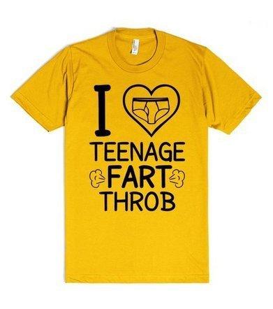 I Love Teenage Fart-throb | Fitted T-shirt | SKREENED | SNR | Scoop.it