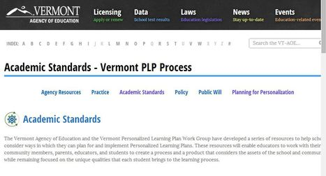Academic Standards - Vermont PLP Process - Personal Learning Plan (PLP) Working Group   Vermont Agency of Education   Grades 6-12 English Language Arts & Literacy Resources; Multidisciplinary Embedded Literacy Resources   Scoop.it