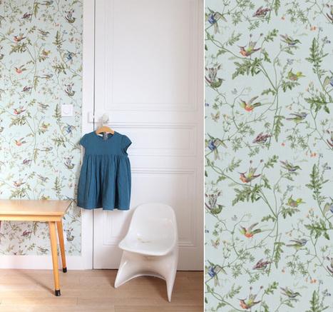 Au Fil des Couleurs - Papiers peints natures pour une chambre d'enfant   Papier peint   Scoop.it