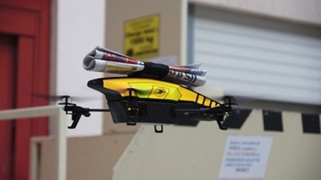 Ooh la la: French town says it will deliver daily newspapers by drone | Rise of the Drones | Scoop.it