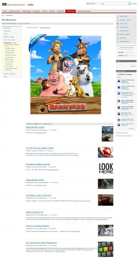 ThoughtFarmer Social Intranet Software | Farm Bureau Bank Case Study | Intranets | Scoop.it