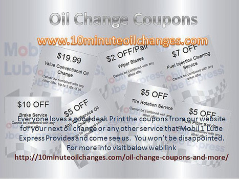 Oil change coupons Boca Raton | Services & Products News | Scoop.it