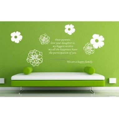 We Are A Happy Family Wall Decals – WallDecalMall.com | Flower Wall Decals | Scoop.it