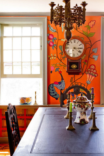 Stroke of DIY Design Genius: 14 Crazy Cool Hand-Painted Walls | Designing Interiors | Scoop.it