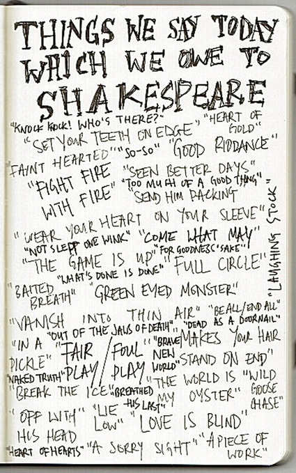 Shakespeare Phrases INFOGRAPHIC | ELT resources | The Tempest | Scoop.it