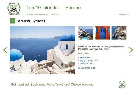 Santorini #4 World Island and #1 Europe Island @ 2015 TripAdvisor Traveler's Choice | Travel To Santorini | Scoop.it