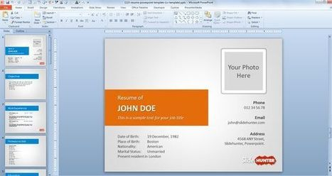Free Resume PowerPoint Template (CV template) | Free Business PowerPoint Templates | Scoop.it