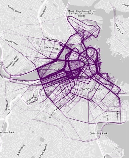 Mapping Where People Run | Geography Education | Scoop.it