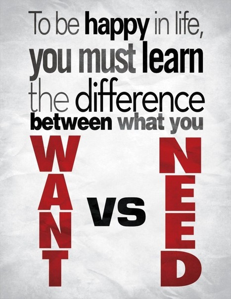 What is the difference between a need and a want?   Need and desire   Scoop.it