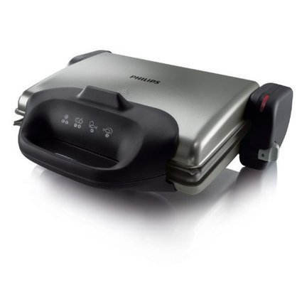 -1-   Philips HD4467/90 Gesundheitsgrill (2000 W, 3 in 1, gerippte Platte) schwarz/silber | kontaktgrill shop | Scoop.it