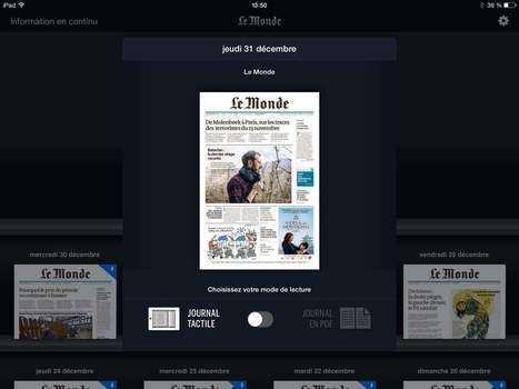 "Le Monde arrête son ""Journal tactile"" sur tablette mais publiera son PDF une heure plus tôt 