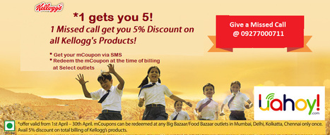 5% discount on all Kellogg's products | Aman Agarwal | Scoop.it