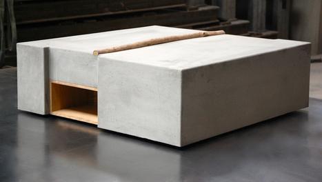 ZATARA: Furniture Made of Concrete and Driftwood - Design Milk   Design & Textiles   Scoop.it