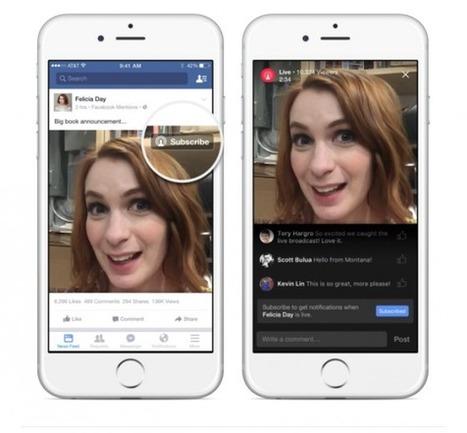 Facebook met à jour son algorithme pour favoriser les vidéos live   Le numérique vue par un Doughnut   Scoop.it