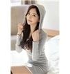 Pure Color Long Sleeve Hooded Sheath Dress   fashion   Scoop.it
