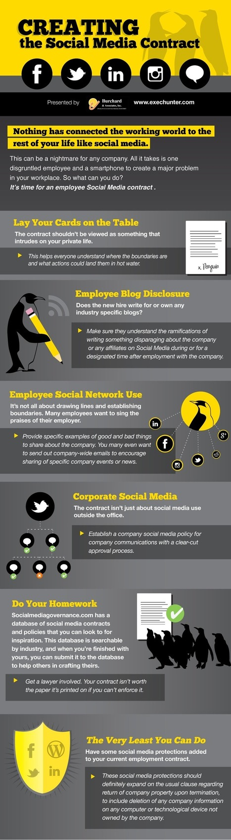The Social Media Contract [infographic] | Personal branding and social media | Scoop.it