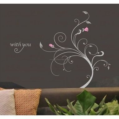 With You Flower Wall Decals – WallDecalMall.com | Flower Wall Decals | Scoop.it