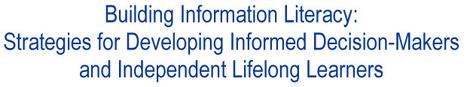 Building Information Literacy | Information Technology Learn IT - Teach IT | Scoop.it