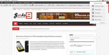 Nimbus: An Excellent Screenshot Extension for Chrome | Geeks9.com | Geeks9 | Scoop.it