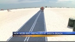 New mat on Siesta Key allows better accessibility to water   Accessible Tourism   Scoop.it