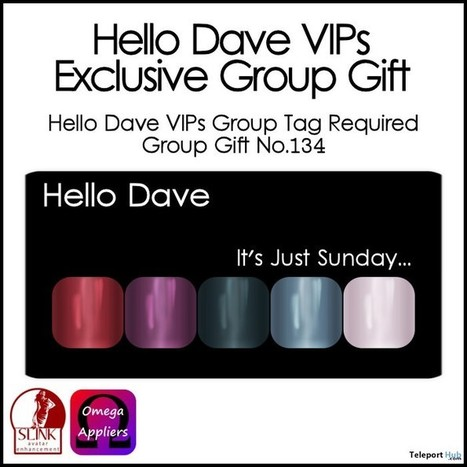 It's Just Sunday Nail Applier Group Gift by Hello Dave | Teleport Hub - Second Life Freebies | Second Life Freebies | Scoop.it