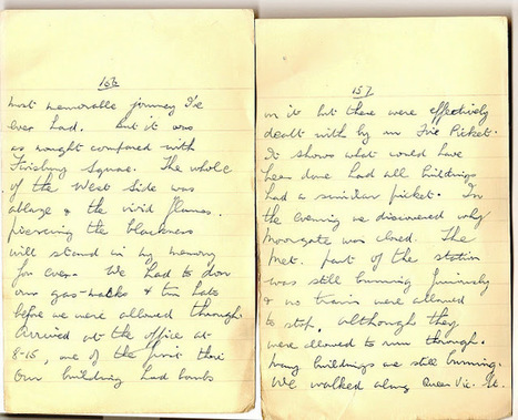 London War Diary: December 30th 1940 (cont)   London War Diary. Original written pages. 1940   Scoop.it