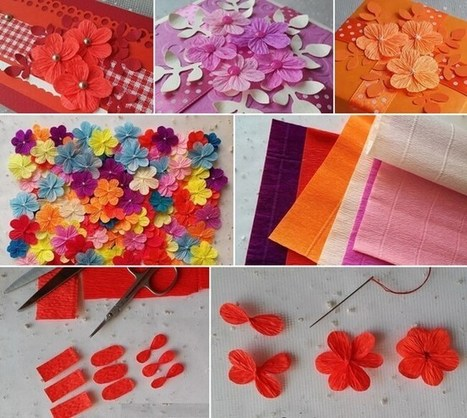 Make These Easy and Cute Crepe Paper Flowers | Amazing interior design | Scoop.it